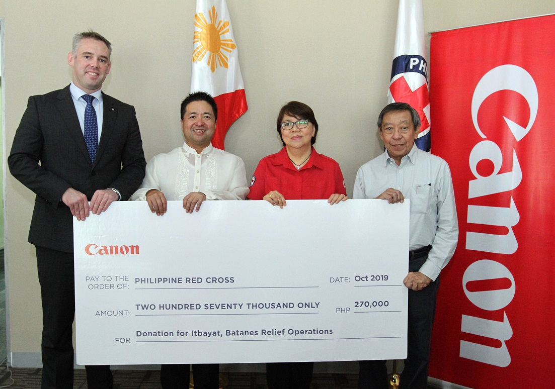 Canon Continues Charitable Cause with the Philippine Red Cross in Aid of the Victims of the Batanes Earthquake
