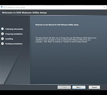Install EOS Webcam Utility