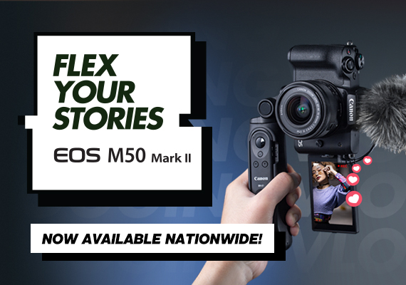 Content Creators Can Now Capture More Dynamic Videos and Photos with Canon's Versatile EOS M50 Mark II
